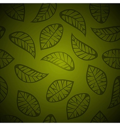 Seamless leaves background vector image vector image