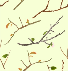 Seamless texture branch various sprigs twig tree vector