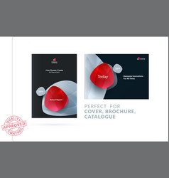 Set of design brochure abstract annual report vector