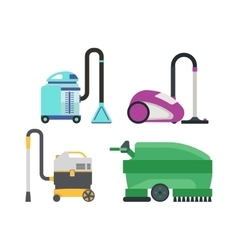 Set of different vacuum cleaners vector image