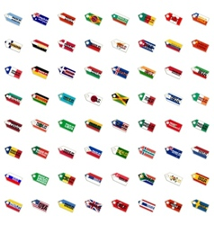 set of the labels in national colors vector image vector image
