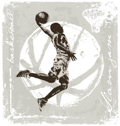Slam jam basket ball vector