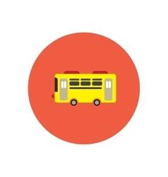 stylish icon in color circle retro bus vector image