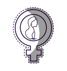 Symbol woman day celebration vector