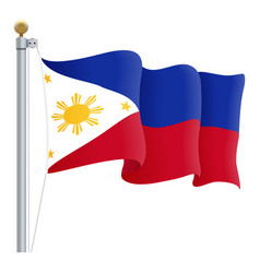 Waving philippines flag isolated on a white vector