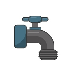 Isolated tap object design vector