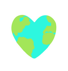heart shaped planet earth vector image