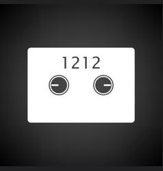 Safe cell icon vector