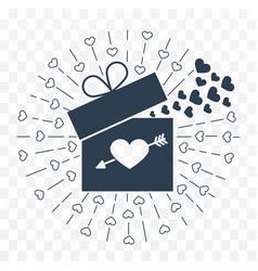 Icon valentine day vector