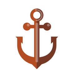 Simple rusty anchor vector