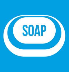 Soap icon white vector