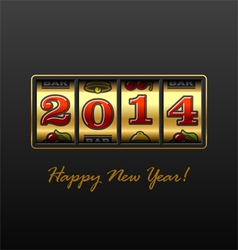 Happy New Year 2014 card vector image