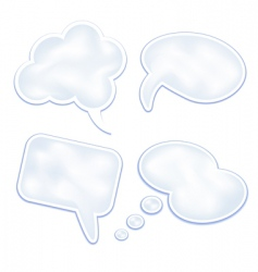 speech clouds and bubbles vector image