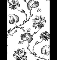 8 abstract hand-drawn floral seamless pattern vector