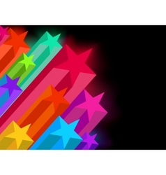 Abstract glowing stars on a dark background eps 8 vector