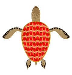 Garnet turtle shell aquatic turtle with precious vector