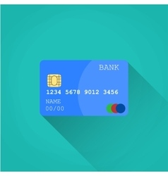 Credit card flat design vector