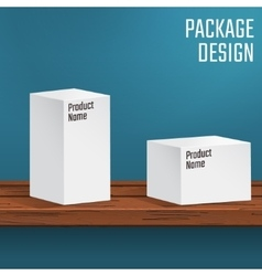 White boxes on table vector