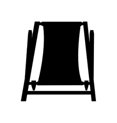 Chair beach isolated icon vector