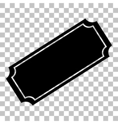 Ticket sign  flat style black icon on vector