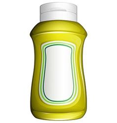 A yellow bottle vector