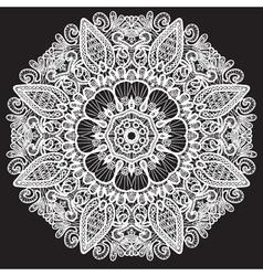 Abstract circle lace pattern vector image vector image