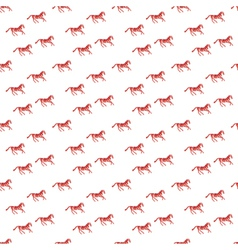 Abstract pattern with red horse vector