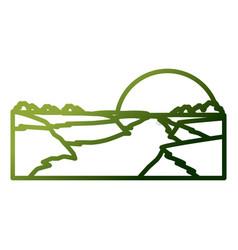 beautiful river landscape vector image vector image