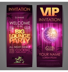 Big lounge party poster vector image vector image