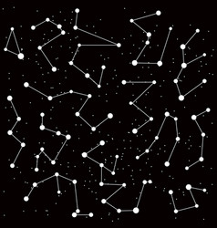 cosmic background with constellations vector image vector image