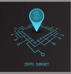 crypto currency monetary financial vector image vector image