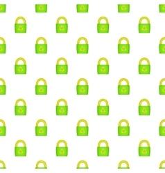Eco bag pattern cartoon style vector image vector image