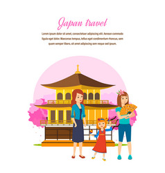 family travel familiarity with culture language vector image vector image