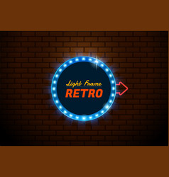 frame light retro circle vector image vector image