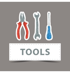 Hardware tools drawing vector image vector image