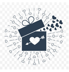 icon valentine day vector image vector image