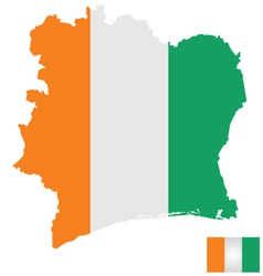 Ivory Coast Flag vector image