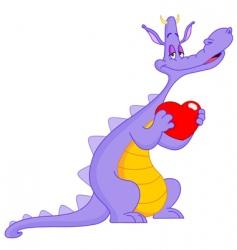 love dragon vector image vector image