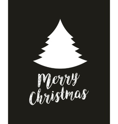 Merry christmas tree holiday december vector