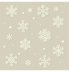 paper snowflakes set vector image vector image