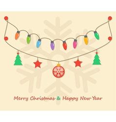 party christmas light bulbs vector image vector image