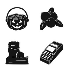 Payment check store and other web icon in black vector