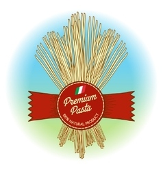 Premium pasta label vector