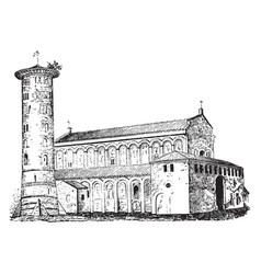 Sant apollinare in classed a basilica church in vector