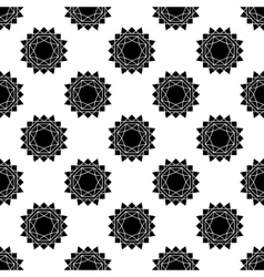 seamless pattern with abstract sun flat vector image vector image
