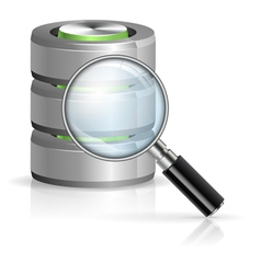 Search in Database Concept vector image