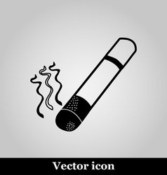 smoke icon great for any use on grey background vector image