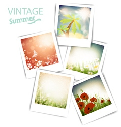 Some vintage summer photos vector