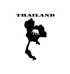 Symbol of thailand and map vector