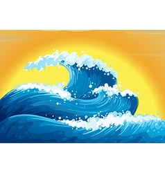 The waves and the sun vector
